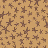 Gingerbread man seamless background. Vector illustration Royalty Free Stock Image