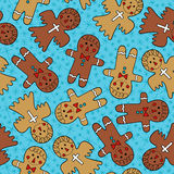 gingerbread man seamless pattern Royalty Free Stock Photography
