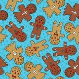Gingerbread man seamless pattern.  Royalty Free Illustration