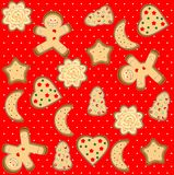 Gingerbread man seamless pattern. Art illustration cute stock illustration