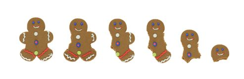 Gingerbread Man Series Royalty Free Stock Images