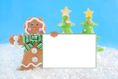 Gingerbread man sign Stock Photos