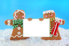 Gingerbread man sign Stock Photography