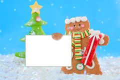 Gingerbread man sign Royalty Free Stock Photo
