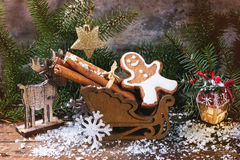 Gingerbread man in slade Royalty Free Stock Images