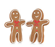 Gingerbread Man Smiling Stock Images