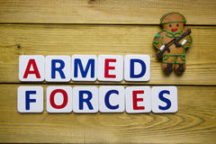 Gingerbread man in a soldier Royalty Free Stock Photos