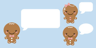 Gingerbread Man Speech Bubble Royalty Free Stock Photos