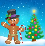 Gingerbread man theme image 4. Eps10 vector illustration vector illustration