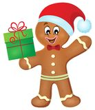 Gingerbread man theme image 2 Stock Image