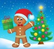 Gingerbread man theme image 5 vector illustration