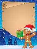 Gingerbread man theme parchment 1 royalty free illustration