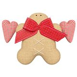 Gingerbread Man. Tilda Gingerbread Man decorations. This is a wonderful decoration for Christmas. As well as unforgettable gifts royalty free illustration