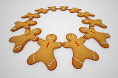Gingerbread man. Royalty Free Stock Photo