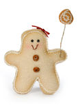 Gingerbread man toy Stock Image