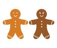 Gingerbread man. Two gingerbread people. Vector illustration Royalty Free Stock Images