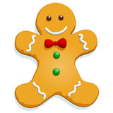 Gingerbread Man - Vector Format. Gingerbread man Christmas character on white. Vector illustration vector illustration