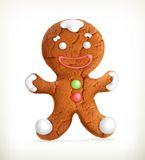 Gingerbread man, vector icon Royalty Free Stock Photos