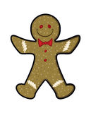 Gingerbread Man. Vector illustration of a holiday Gingerbread man royalty free illustration