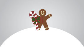 Gingerbread man. Vector illustration for new year`s day, christmas, winter holiday vector illustration