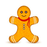 Gingerbread man. Vector on white background Royalty Free Stock Photo