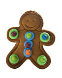 Gingerbread man on white background Stock Image
