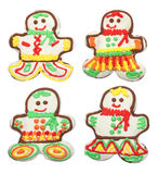 Gingerbread, man on white background Stock Photos