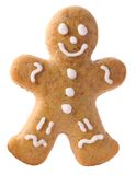 Gingerbread man. On white background royalty free stock photo