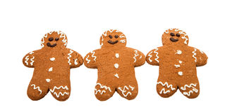 Gingerbread man. On a white background royalty free illustration