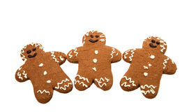 Gingerbread man. On a white background stock illustration