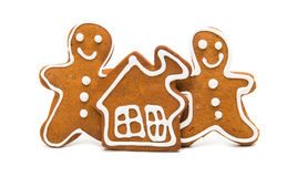 Gingerbread man on white background royalty free illustration