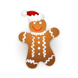 Gingerbread man on a white background. Royalty Free Stock Photography
