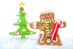 Gingerbread man winter Stock Images