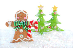 Gingerbread man winter Stock Photo