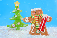 Gingerbread man winter Stock Photos