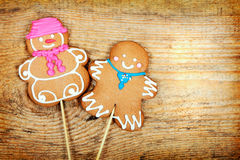 Gingerbread man and woman Royalty Free Stock Photo