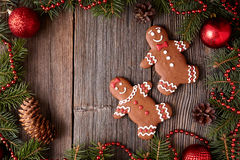 Gingerbread man and woman couple cookies christmas Royalty Free Stock Photos