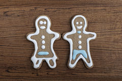 Gingerbread man and woman Stock Image
