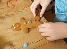 A Gingerbread Man. Stock Images