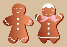 Gingerbread manikins Stock Photos