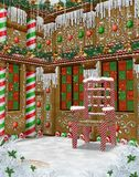 Gingerbread Manor 1 royalty free illustration
