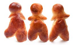 Gingerbread mans. On a white background Stock Photo