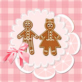 Gingerbread mans Stock Photography