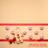 Gingerbread mans smile. Royalty Free Stock Images