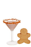 Gingerbread martini with cookie. Isolated Gingerbread martini with cookie stock image