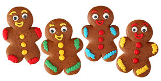 Gingerbread men royalty free stock photo