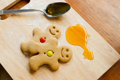 Gingerbread men stock photos