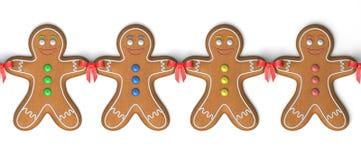 Gingerbread men vector illustration