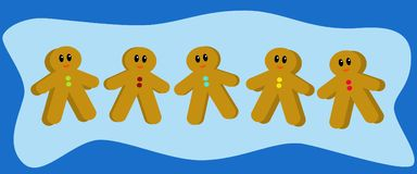 Gingerbread Men Royalty Free Stock Images