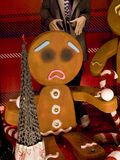 Gingerbread Men Christmas Display on Grafton Street, Dublin Irel Royalty Free Stock Photography